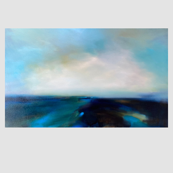 A semi-abstract landscape painting by Laura Rich